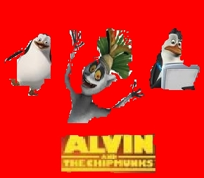 Alvin and the chipmunks [for movie poster contest] - Penguins of