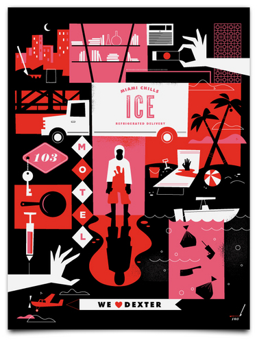 Amazingly beautiful dexter inspired posters!