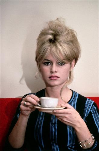 Brigitte Bardot karatasi la kupamba ukuta possibly with a spatula titled BB