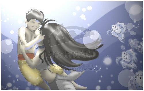 Best Underwater Kiss Ever. lol :)