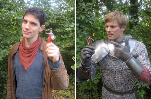 Bradley and Colin with.... mini bradley and Colin.