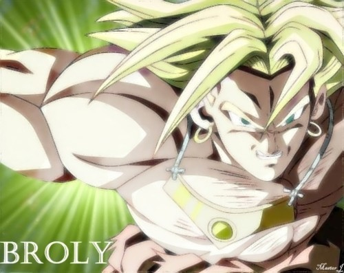 Broly lookng like he's about to charge at you!