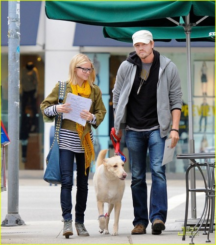 Chad Michael Murray: Dog Walk With Kenzie Dalton |