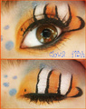 Clownfish Eye Makeup