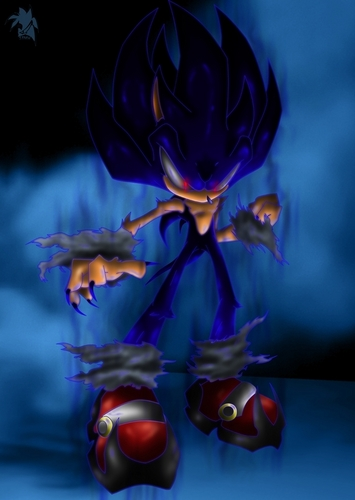 Evil Sonic Characters Wallpaper Containing A Bouquet Titled Dark Super EV