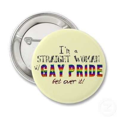 Gay Pride Bumper Stickers and Pins