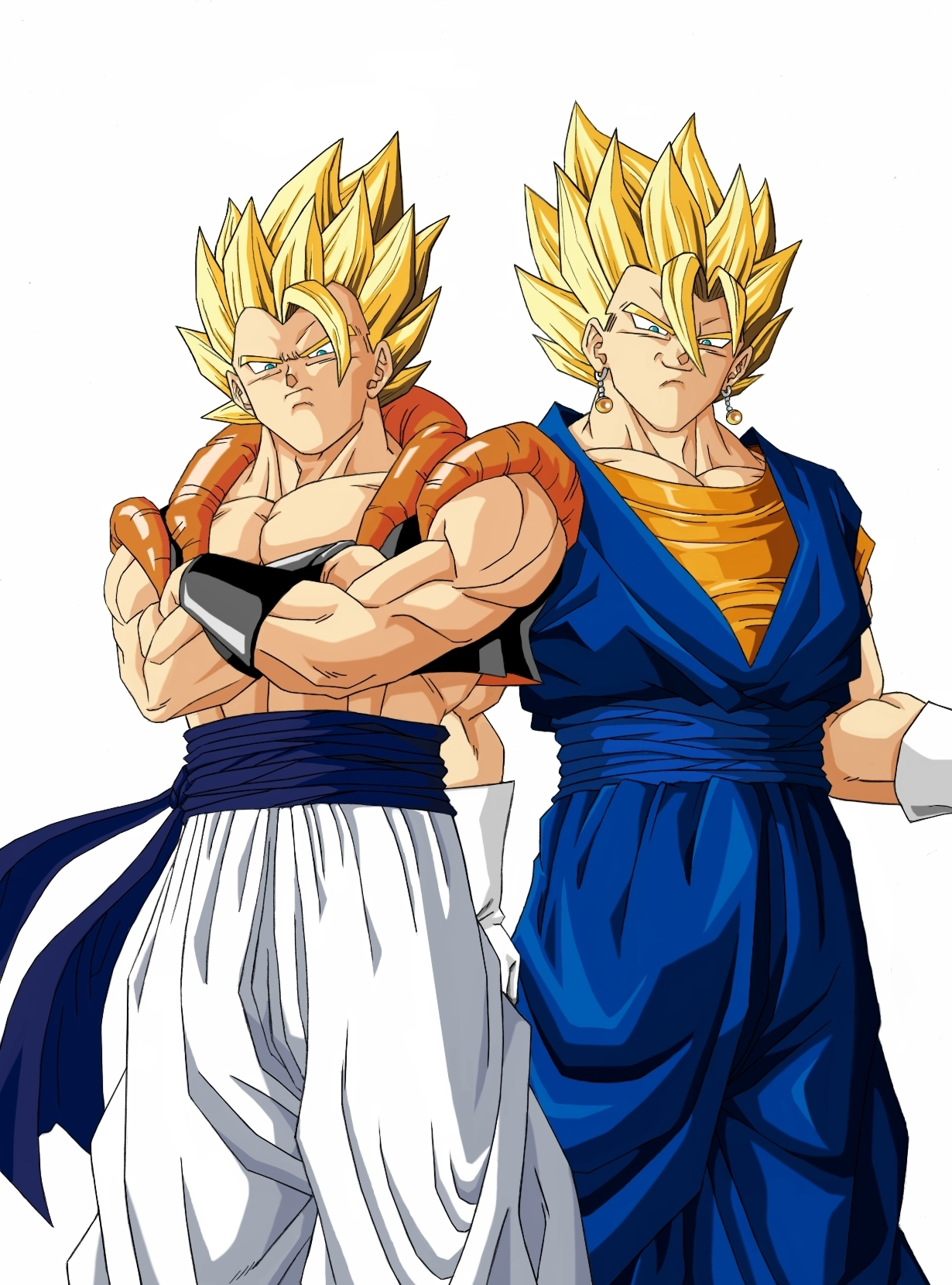Gogeta and Super Vegito looking straight at you - dragonball-z-movie ...