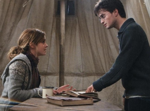 Harry and Hermione wallpaper possibly containing a sign called Harmony
