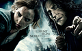 Hermione and Severus Snape Deathly Hallows achtergrond