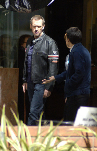"Hugh Laurie Films ""House"" in Los Angeles"