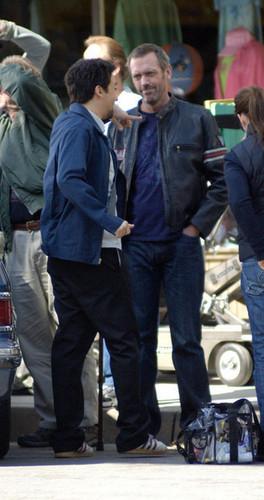"""Hugh Laurie Films """"House"""" in Los Angeles"""