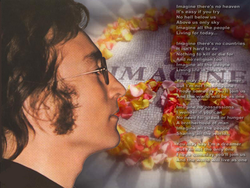 John Lennon پیپر وال probably with a bouquet called Imagine
