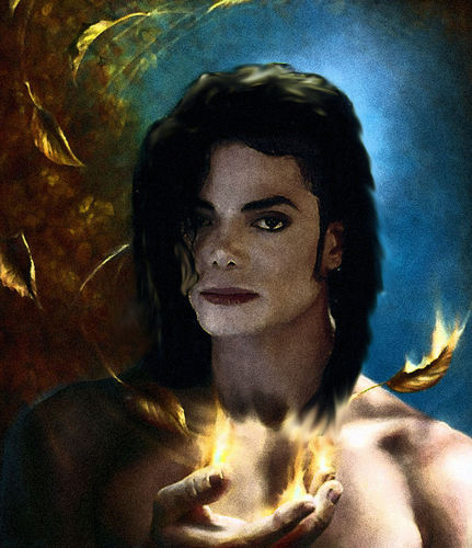 Michael Jackson Hintergrund with a portrait titled Infinite