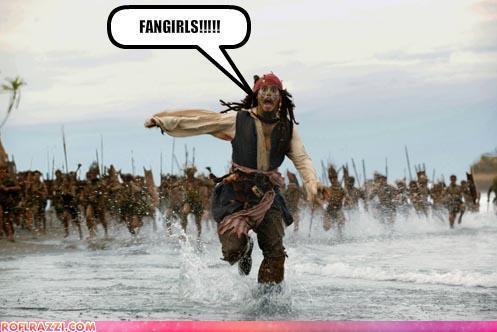Fangirls wallpaper titled Jack Sparrow Fangirls