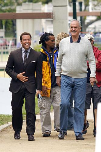 John Cleese Films a Scene for 'Entourage'