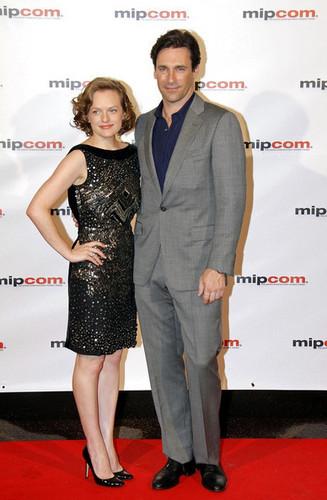 Jon Hamm and Elisabeth Moss at MIPCOM