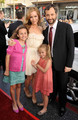 Judd Apatow & Leslie Mann with daughters Maude & Iris Apatow @ 17 Again Premiere - 2009
