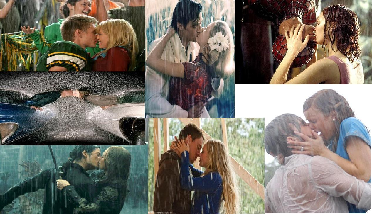 romantic movie moments bilder küssen in the rain hd hintergrund and