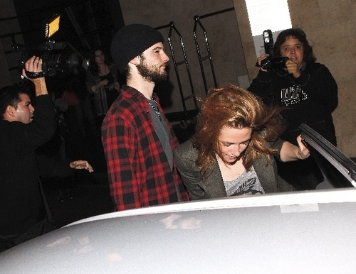 Kristen and Rob last night