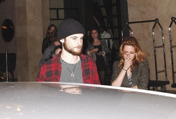 Kristen and Rob last night