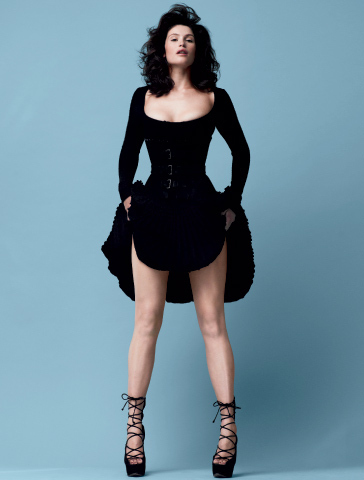 Gemma Arterton 바탕화면 containing tights, a legging, and a playsuit titled LA Times Magazine [2010]