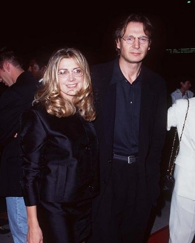Liam Neeson and Natasha Richardson at Michael Collins Premiere