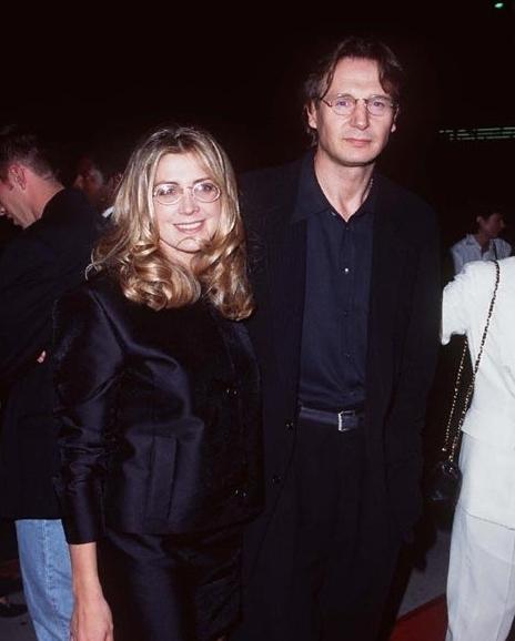 Liam Neeson and Natasha Richardson at Michael Collins