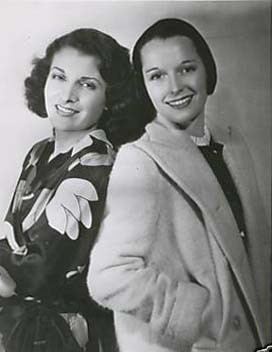 Louise with Evelyn Brent