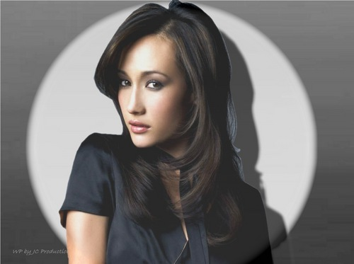 Maggie Q wallpaper containing a portrait titled Maggie Q