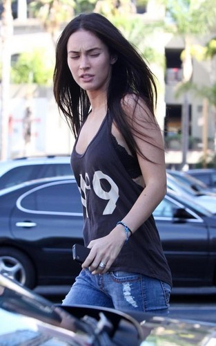 Megan out in Hollywood