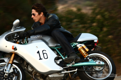 Michael Trucco wallpaper possibly with a motorcycling, a motorcycle cop, and a motorcyclist called Michael Trucco