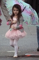 Nessie in her ballet outfit
