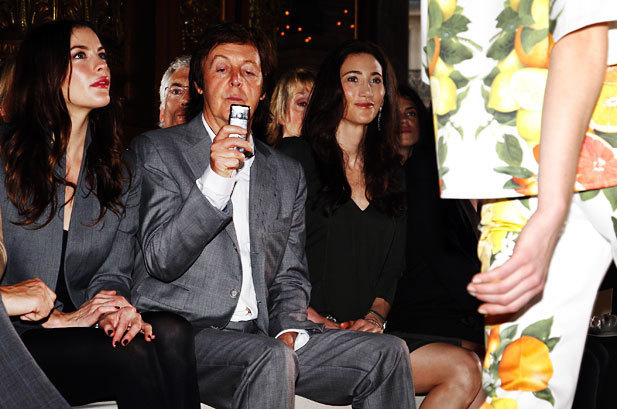 Paul at Stella's fashion show