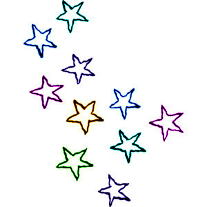 polyvore clippingg♥ wallpaper titled Rainbow Stars doodle