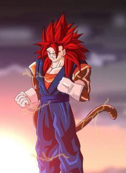 Red hair Goku SSJ4
