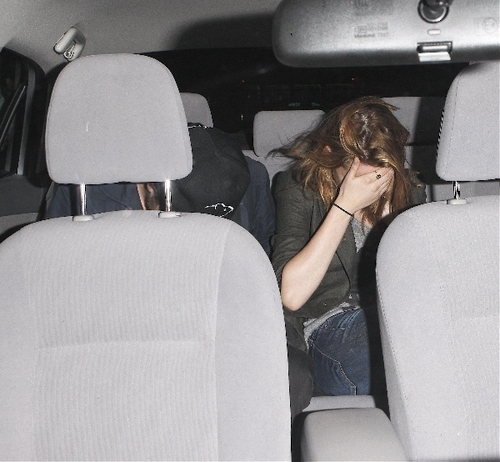 Rob & Kristen leaves birthday party