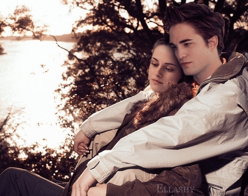 Robert Pattinson Hintergrund containing a pelz mantel called Robert Pattinson & Kristen Stewart: Ellashy