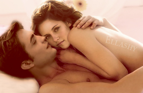 Robert Pattinson karatasi la kupamba ukuta containing skin entitled Robert Pattinson & Kristen Stewart: Ellashy