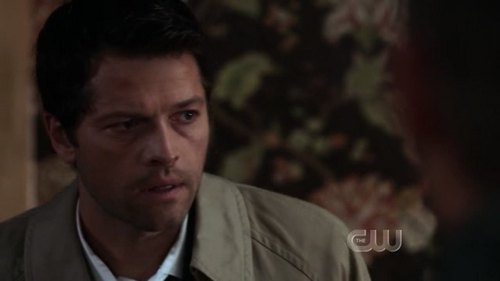 Castiel 바탕화면 possibly containing a business suit and a portrait titled Screencaps of Castiel 6x3 ''The Third Man''