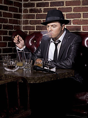 Seth MacFarlane wallpaper with a business suit and a dinner table called Seth MacFarlane's 2009 Maxim Photoshoot
