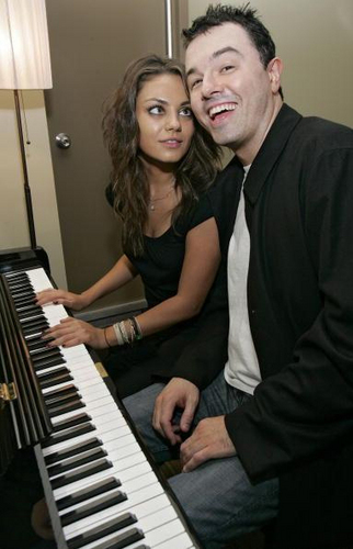 Seth MacFarlane wallpaper possibly with a pianist and a piano entitled Seth and Mila