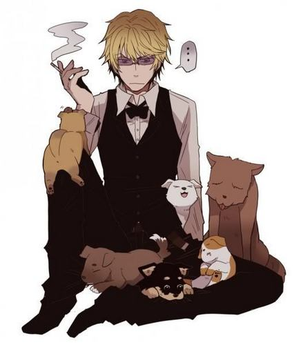 Heiwajima Shizuo wallpaper probably containing a well dressed person and an outerwear titled Shizuo Heiwajima