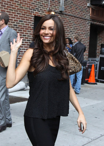 Sofia Vergara at 'The Late دکھائیں with David Letterman'