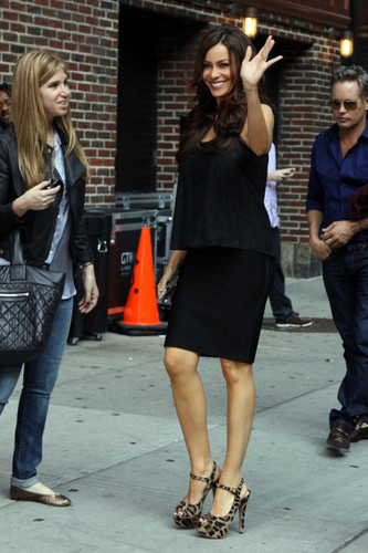 Sofia Vergara at 'The Late onyesha with David Letterman'