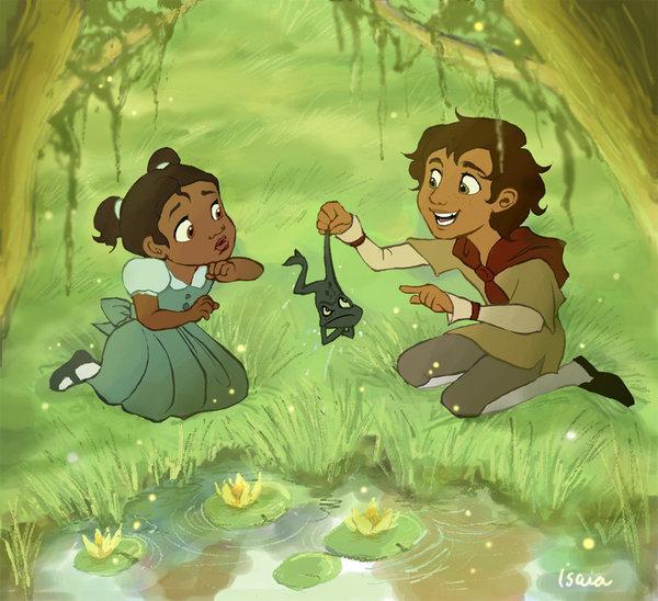 Tiana and Naveen as kids!