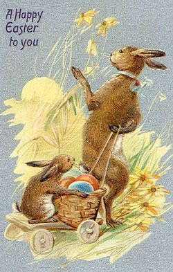 Vintage Bunnies & Easter Cards