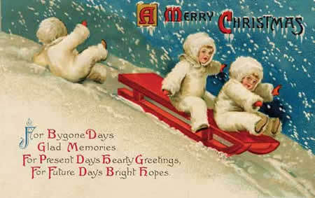 Vintage wallpaper containing anime titled Vintage Christmas Cards