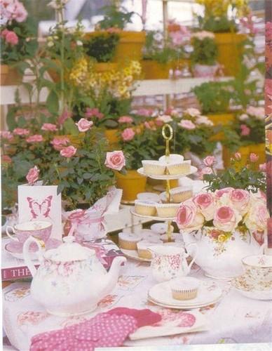 Vintage trà Party