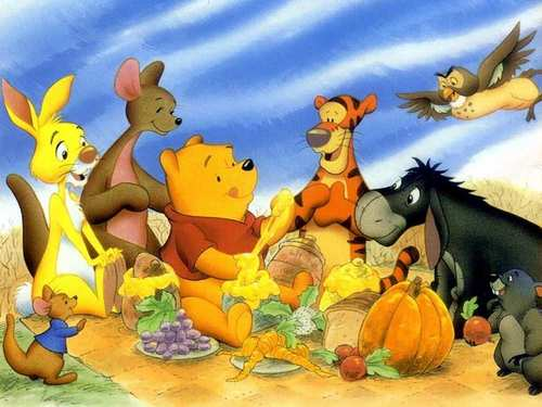 gấu Pooh hình nền containing anime called Winnie the Pooh