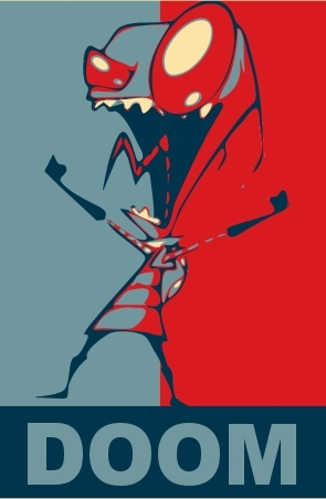 Zim's Obama Poster DOOM - invader-zim Fan Art